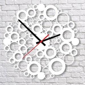 Nástenné hodiny White Bubble