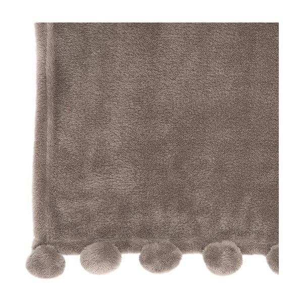Pléd PomPom 127x152 cm, popolavo hnedý