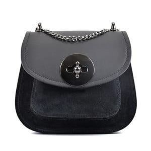 Čierna kožená kabelka Isabella Rhea Inspiration