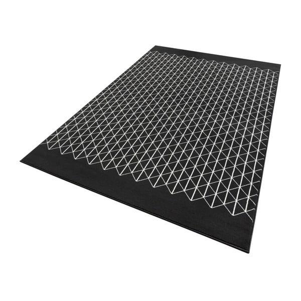 Čierny koberec Zala Living Twist, 70×140cm