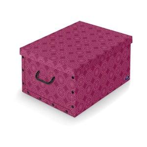 Fialový úložný box Domopak Ella, dĺžka50 cm