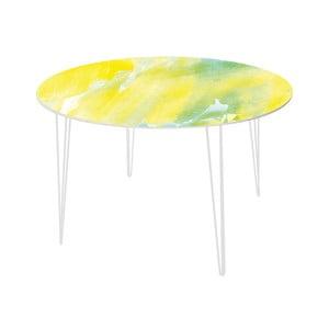 Jedálenský stôl Abstract Lemon, 120 cm