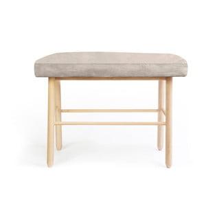 Stolička z borovicového dreva s sivým zamatovým poťahom Velvet Atelier