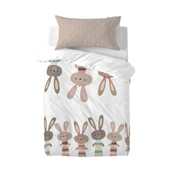 Obliečky Little W Maxicrib Little Rabbits, 115×145cm