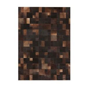 Kožený koberec Brilliant Brown, 140x200 cm