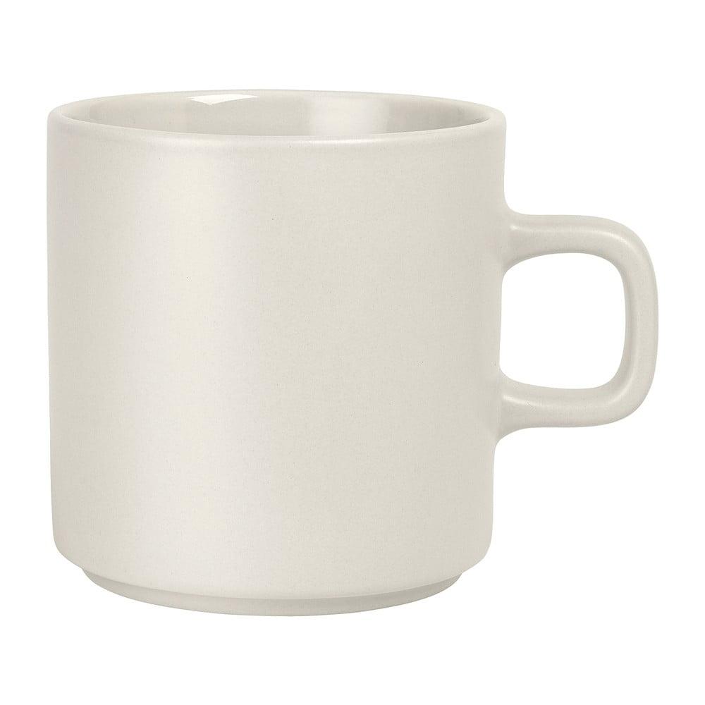 Biely keramický hrnček na čaj Blomus Pilar, 250 ml