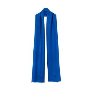 Modrý kašmírový šál Bel cashmere Julia, 200×67cm