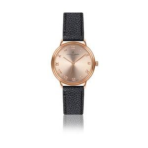 Dámske hodinky s čiernym remienkom z pravej kože Frederic Graff Mandy