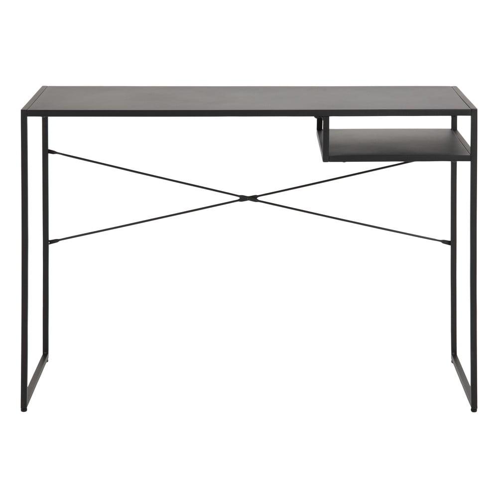Čierny písací stôl so železnými nohami Actona Newcastle