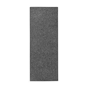 Antracitovočierny behúň BT Carpet, 80 × 300 cm