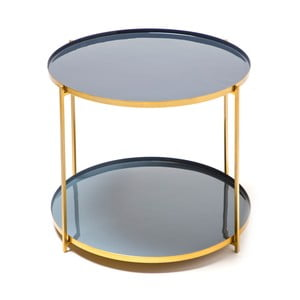 Modrosivý odkladací stolík 360 Living Romy 722, Ø50cm