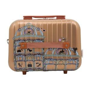 Príručný kufor zlatej farby LULU CASTAGNETTE Town, 17 l