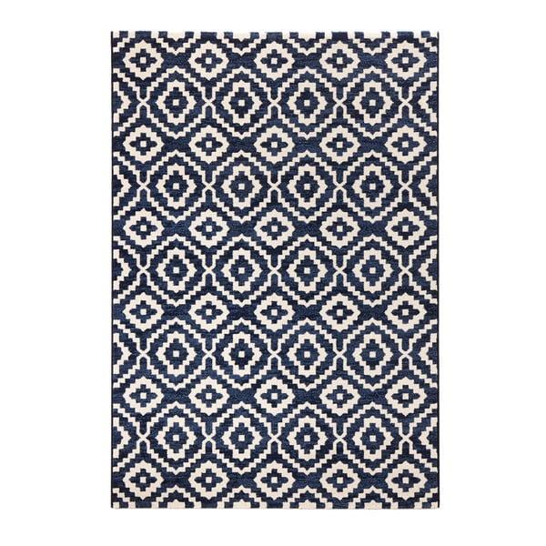Modrý koberec Mint Rugs Diamond Ornamental, 133 x 195 cm