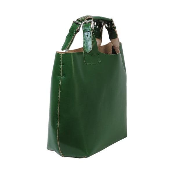 Zelená kabelka z pravej kože Andrea Cardone Edoardo