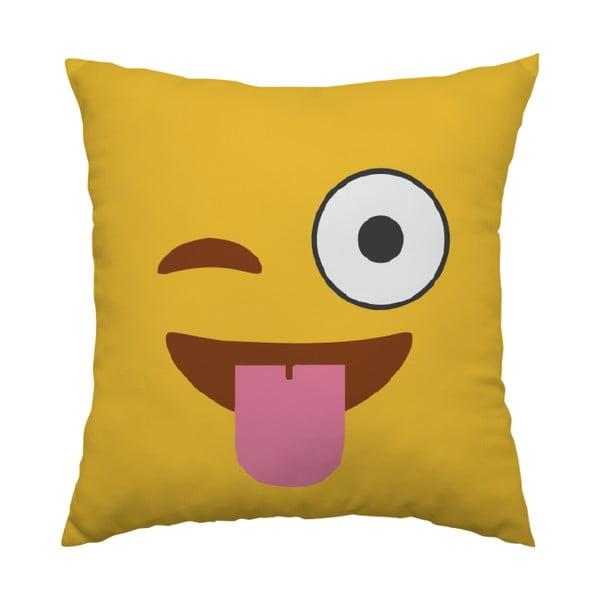 Vankúš Emoji Tongue, 40x40 cm