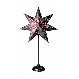 Svietiaca hviezda v striebornej  farbe so stojanom Best Season Antique Silver, 55 cm