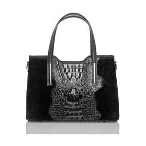 Čierna kožená kabelka Glorious Black Murizia