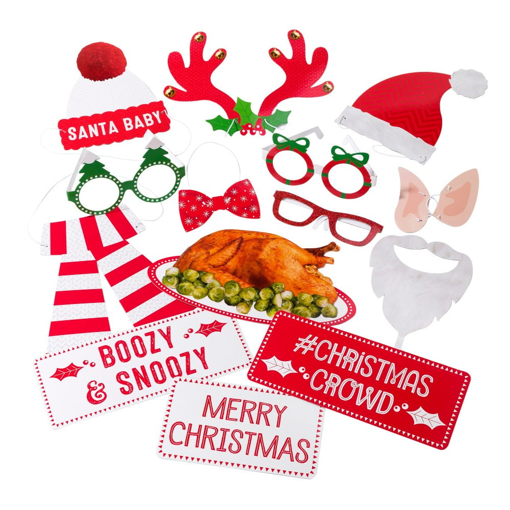 Vianočný set 20 rekvizít na fotenie Talking Tables Christmas Family Photo