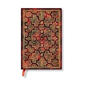 Linajkový zápisník s mäkkou väzbou Paperblanks Mystique, 9,5 x 14 cm
