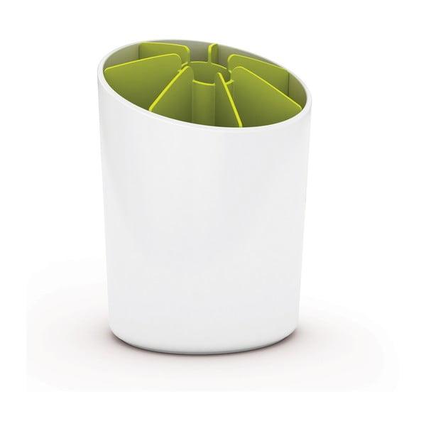 Nádoba na kuchynské nástroje Segment, biela / zelená