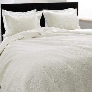 Prikrývka na posteľ Clara, 260x250 cm, krémová