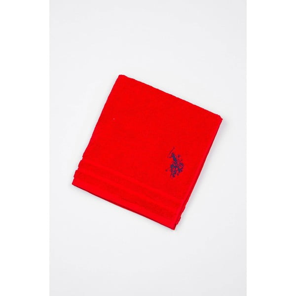 Červená kúpeľňová predložka U.S. Polo Assn., 60 x 90 cm