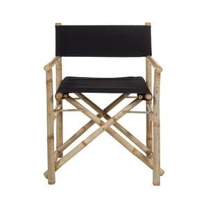 Bambusová stolička s čiernym vankúšom na sedenie Santiago Pons