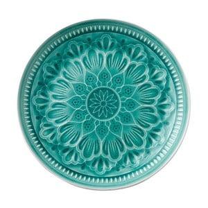 Zelený kameninový tanier Ladelle Catalina, ⌀27,7 cm