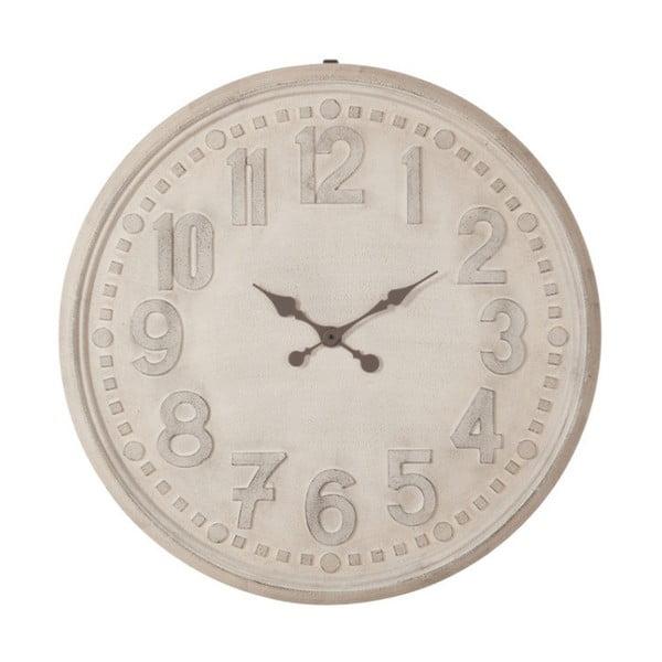 Biele nástenné vintage hodiny J-Line, 90 cm