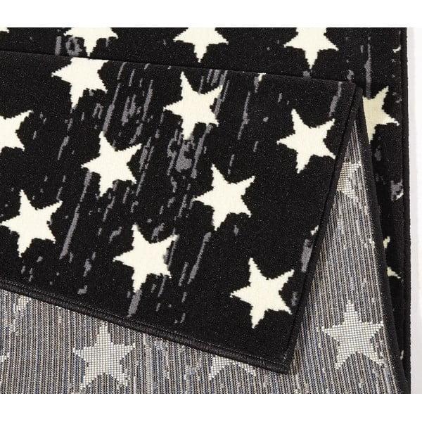 Koberec City & Mix - čierna vlajka, 140x200 cm