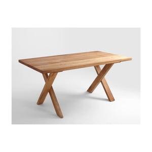 Jedálenský stôl z dubového dreva Custom Form Mavet, 160×90 cm