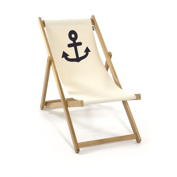 Skladacie lehátko bez rúčiek Beach, biele