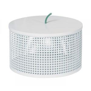 Biely úložný box OK Design Boite, Ø25,5 cm