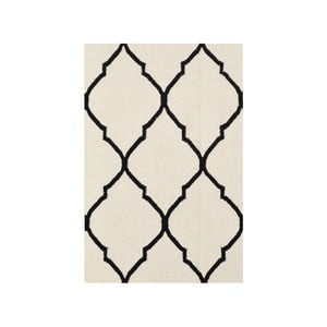 Vlnený koberec Bakero Caroline Ivory/Black, 60 x 90 cm