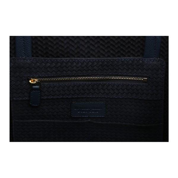 Tmavomodrá kožená kabelka Beverly Hills Polo Club Paulee