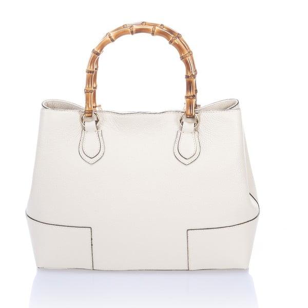 Biela kožená kabelka Teofila