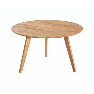 Prírodný konferenčný stolík z dubového dreva Folke Yumi, ∅ 9 cm