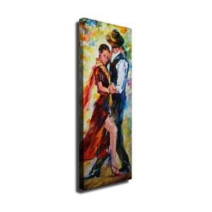 Nástenný obraz na plátne Dance, 30 × 80 cm