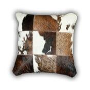 Vankúš z pravej kože Cow, 45x45 cm