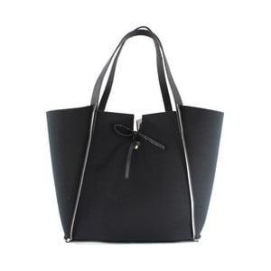 Neoprénová kabelka Fiertes, černo-bílá
