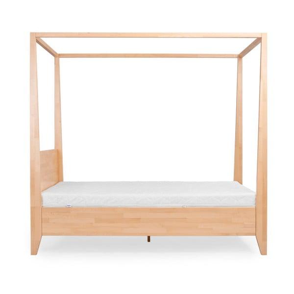 Dvojlôžková posteľ z masívneho bukového dreva SKANDICA Canopy, 200 x 200 cm