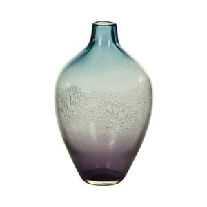 Modrá krištáľová dekoratívna váza Santiago Pons Ryde, Ø 17 cm