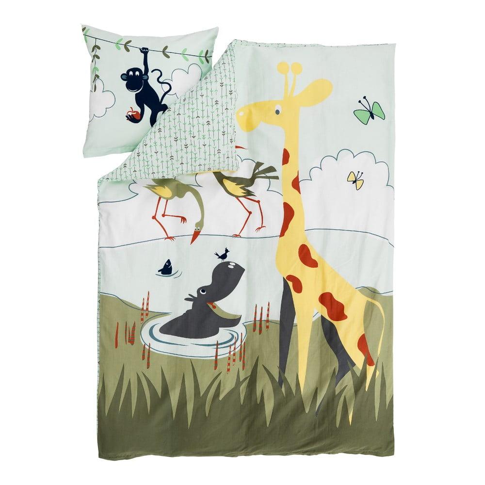 Detské obliečky Flexa Safari, 140 x 200 cm + 50 x 70 cm