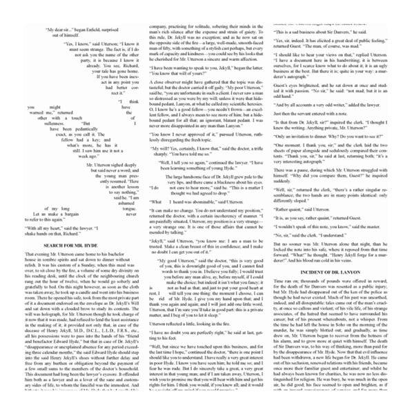 Knižný plagát Podivný prípad Dr. Jekylla a pána Hyda, 50x70 cm