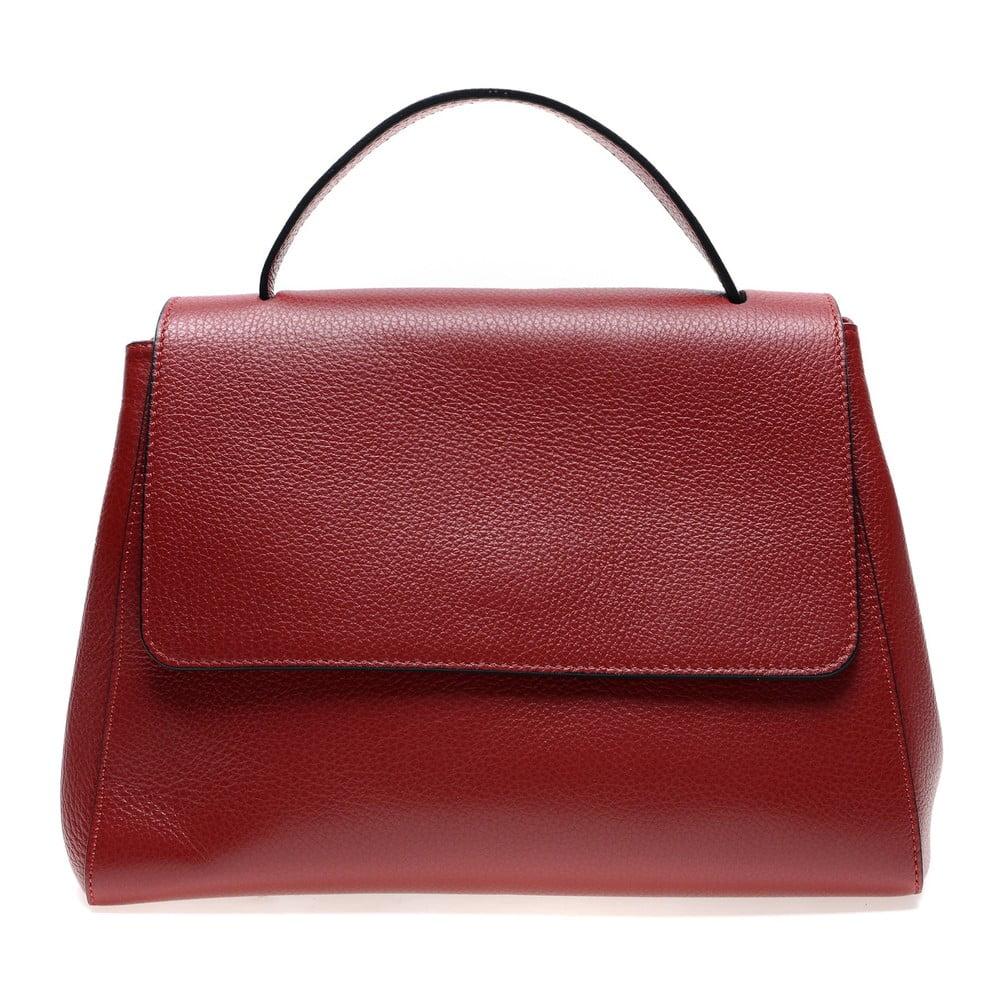 Červená kožená kabelka do ruky Renata Corsi
