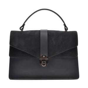Čierna kožená kabelka Mangotti Largotte