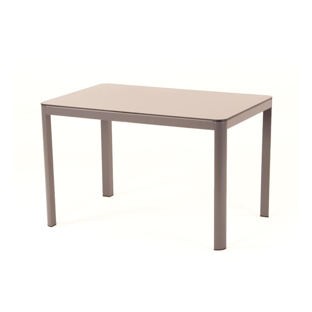 Sivý jedálenský záhradný stôl pre 4-6 osôb Ezeis Mistral