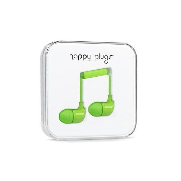 Slúchadlá s nadstavcami Happy Plugs, zelené
