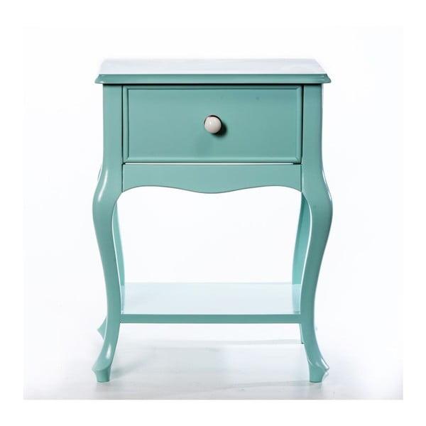 Odkladací stolík Purl Light Green, 44x33x60 cm