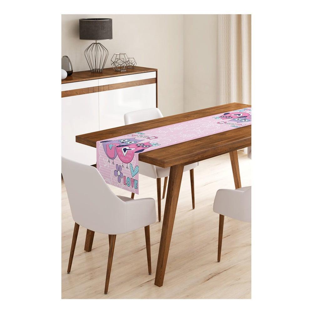 Behúň na stôl z mikrovlákna Minimalist Cushion Covers Owls, 45 × 145 cm